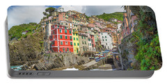 Colors Of Cinque Terre Portable Battery Charger by JR Photography