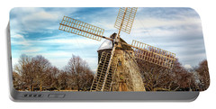 Portable Battery Charger featuring the photograph Corwith Windmill Long Island Ny Cii by Susan Candelario