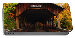 Covered Bridge At Allegany State Park Portable Battery Charger