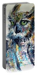 Cute Owl Portable Battery Charger by Kovacs Anna Brigitta
