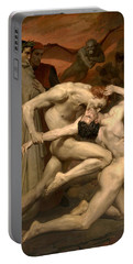 Dante And Virgil In Hell  Portable Battery Charger by William-Adolphe Bouguereau