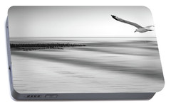Portable Battery Charger featuring the photograph Desire Light Bw by Hannes Cmarits