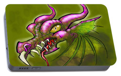 Portable Battery Charger featuring the digital art Dragon by Kevin Middleton