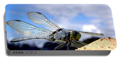 Dragonfly On A Mushroom 001  Portable Battery Charger