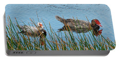 Portable Battery Charger featuring the photograph 2- Ducks by Joseph Keane