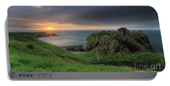 Dunnottar Castle At Sunrise Portable Battery Charger