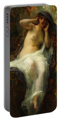 Portable Battery Charger featuring the painting Echo by Alexandre Cabanel