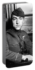 Portable Battery Charger featuring the photograph Eddie Rickenbacker by War Is Hell Store