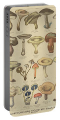 Edible And Poisonous Mushrooms Portable Battery Charger by French School