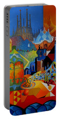 El Barcelona De Gaudi Portable Battery Charger by Joe Gilronan