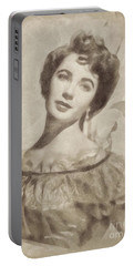 Elizabeth Taylor, Vintage Hollywood Legend By John Springfield Portable Battery Charger