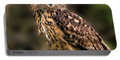 Eurasian Eagle Owl Perched On A Post Portable Battery Charger