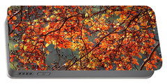 Fall Leaves Portable Battery Charger by Nicholas Burningham