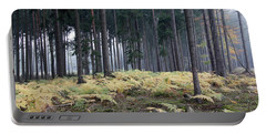 Fog In The Forest With Ferns Portable Battery Charger by Michal Boubin