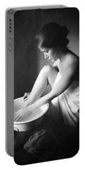 Portable Battery Charger featuring the photograph Footwasher by Jennifer Wright