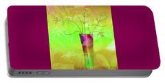 Garden Vase Portable Battery Charger by Iris Gelbart