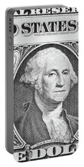 Portable Battery Charger featuring the photograph George Washington by Les Cunliffe