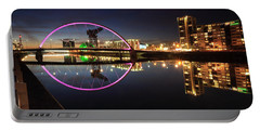 Glasgow Clyde Arc Bridge At Twilight Portable Battery Charger