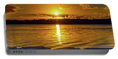 Golden Sunrise Waterscape Portable Battery Charger