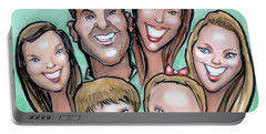 Group Caricature Portable Battery Charger by Kevin Middleton
