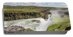 Gullfoss Waterfall In Iceland Portable Battery Charger