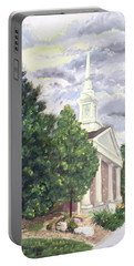 Portable Battery Charger featuring the painting Hale Street Chapel by Jane Autry