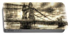 Hammersmith Bridge London Vintage Portable Battery Charger
