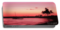 Hawaiian Sunset Portable Battery Charger by Kristine Merc
