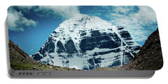 Portable Battery Charger featuring the photograph Holy Kailas North Slop Himalayas Tibet Yantra.lv by Raimond Klavins