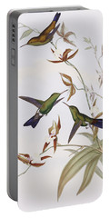 Hummingbirds Portable Battery Charger by John Gould