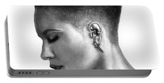 Halsey Drawing By Sofia Furniel Portable Battery Charger