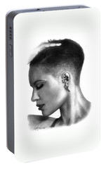 Halsey Drawing By Sofia Furniel Portable Battery Charger by Sofia Furniel