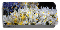 Incredible Irises In Watercolor Portable Battery Charger