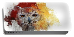 Indian Eagle-owl Portable Battery Charger