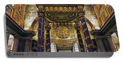 Interior View Of The Basilica Di Santa Maria Maggiore In Rome Italy Portable Battery Charger