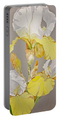 Irises-posthumously Presented Paintings Of Sachi Spohn  Portable Battery Charger