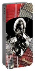 Jimmy Page Art Portable Battery Charger