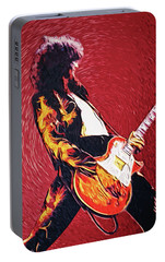 Jimmy Page II Portable Battery Charger by Taylan Apukovska