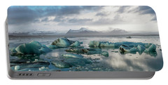 Portable Battery Charger featuring the photograph Jokulsarlon, The Glacier Lagoon, Iceland 3 by Dubi Roman