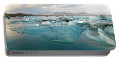 Portable Battery Charger featuring the photograph Jokulsarlon The Glacier Lagoon, Iceland 2 by Dubi Roman