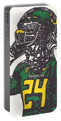 Portable Battery Charger featuring the drawing Kenjon Barner 1 by Jeremiah Colley
