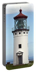 Kilauea Lighthouse On Kauai Portable Battery Charger by Catherine Sherman