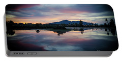 Lebanon Oregon Sunset Portable Battery Charger by Nick Boren