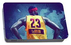 Lebron James Portable Battery Charger by Semih Yurdabak