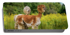 Portable Battery Charger featuring the photograph 2 Little Llamas by Mary Timman