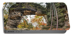 Portable Battery Charger featuring the photograph Little Pravcice Gate - Famous Natural Sandstone Arch by Michal Boubin