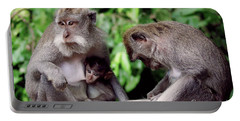 Long Tailed Macaques  Portable Battery Charger