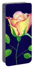Portable Battery Charger featuring the painting Love In Bloom by Rodney Campbell