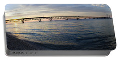 Portable Battery Charger featuring the photograph Mackinac Bridge by Tara Lynn
