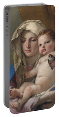 Madonna Of The Goldfinch Portable Battery Charger by Giovanni Battista Tiepolo